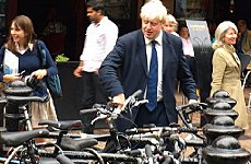 Boris Johnson Wants to Fly Over London on his Bike.