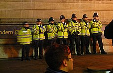 Police Protest Against 'High Risks' of Government Cuts