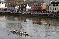 Oxford and Cambridge Race Over Rough Water.