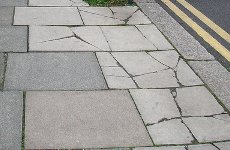 'Accident Prone' Man Charged with Pavement Fraud