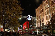 Christmas Lights on Oxford Street.