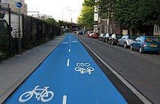 Boris Johnson Opens First Cycle Superhighways.