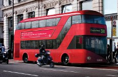Boris Johnson Climbs Aboard New Routemaster.