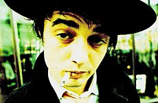 Pete Doherty Finds a Pot to Pee In at Millwall FC.