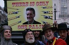 Palin Demo Kicks Off London's US Election Party.