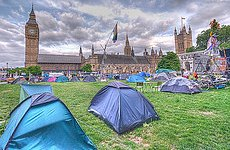 Parliament Square Peace Camp Torn Down by Police.