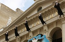 Nuns Land on London Palladium.