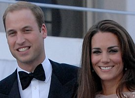 Will and Kate in crowd for charity gig in aid of riot-torn London.