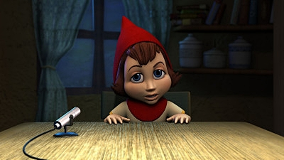 Anne Hathaway plays Red in Hoodwinked. Directed by Cory Edwards. Copyright Momentum Pictures