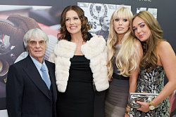 The Ecclestone family at the FORM launch at Harrods. Copyright Piers Allardyce. All Rights Reserved.