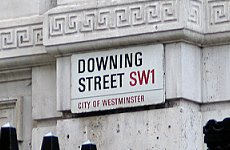 10 Downing Street sign. Photo by cornfed1975. C.C.License