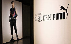 Alexander McQueen PUMA Sport-Fashion Apparel Collection The showroom is pictured during the presentation of the Alexander McQueen PUMA Sport-Fashion Apparel Collection on January 20, 2009 in Milan, Italy. Miguel Villagran/Getty Images for Puma.