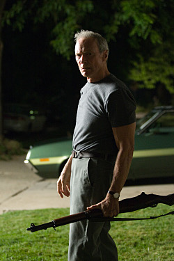 CLINT EASTWOOD stars as Walt Kowalski in Warner Bros. Pictures and Village Roadshow Pictures drama Gran Torino, distributed by Warner Bros. Pictures. Photo by Anthony Michael Rivetti
