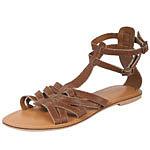 Tan Leather Gladiator Sandals. Dorothy Perkins