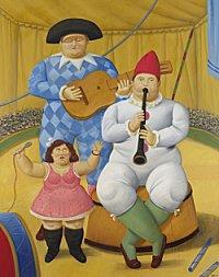 Fernando Botero. Circus Musicians. 2008. 195 x 151cm. Oil on canvas.