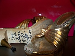 Jodie Harsh Opens Bids For Stonewall Silent Auction. Picture: Sex and the City shoes.