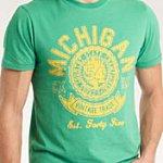 Green 'Michigan' T-Shirt. Burton