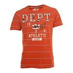 Orange 'Department' Striped T-Shirt. Burton.