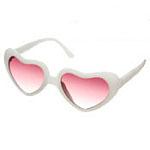 White Heart Sunglasses. Miss Selfridge.