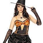 Halloween Sexy Witch Costume. Joker Masquerade.