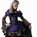 Adult Lady in Waiting Halloween Costume. Joker Masquerade.