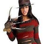 Adult Licensed Miss Krueger Halloween Costume. Joker Masquerade.