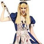 Adult Malice In Horrorland Halloween Costume. Joker Masquerade.