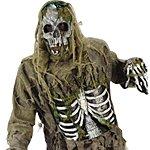 Adult Skeleton Zombie Halloween Costume. Joker Masquerade.