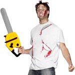 Bloody Horror Saw T-Shirt. Joker Masquerade.