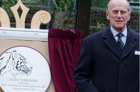 Geri Halliwell admits she was 'worried' when Prince Philip opened new tiger encl
