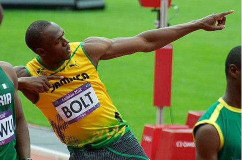 Usain Bolt races into town for London Olympic's one-year birthday party