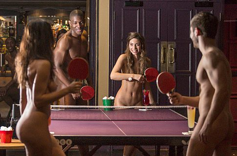 Naked Ping Pong at Bounce. Copyright LondonNet/Bounce/TaylorHerring 2014. All Ri