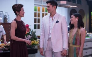 Henry Golding as Nick and Constance Wu as Rachel in Crazy Rich Asians