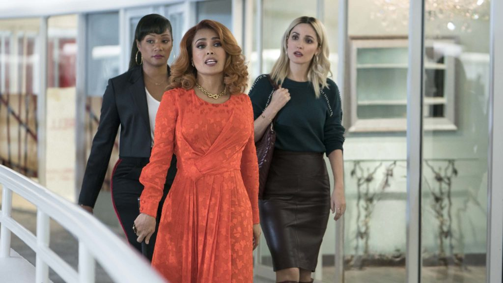Tiffany Haddish as Mia Carter, Salma Hayek as Claire Luna and Rose Byrne as Mel Paige in Like A Boss, directed by Miguel Arteta. Photo: Eli Joshua Ade. Copyright: 2019 Paramount Pictures Corporation. All Rights Reserved.