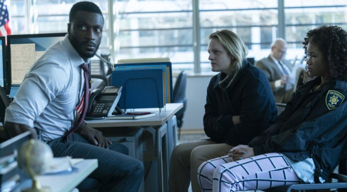 Aldis Hodge as James Lanier, Elisabeth Moss as Cecilia Kass and Storm Reid as Sydney Lanier in The Invisible Man, directed by Leigh Whannell. Photo: Mark Rogers. Copyright: 2020 Universal Pictures. All Rights Reserved.