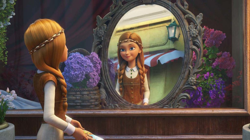 Gerda (voiced by Laurie Hymes) in The Snow Queen: MirrorLands, directed by Aleksey Tsitsilin. Copyright: Signature Entertainment. All Rights Reserved.