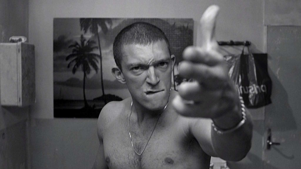 Vincent Cassel in La Haine directed by Mathieu Kassovitz. Copyright: BFI Distribution.