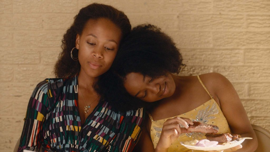 Nicole Beharie as Turquoise Jones and Alexis Chikaeze as Kai in Miss Juneteenth, directed by Channing Godfrey Peoples. Copyright: Vertigo Releasing. All Rights Reserved.