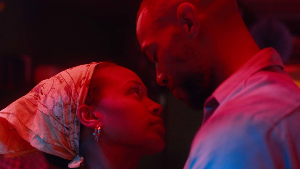 Nicole Beharie as Turquoise Jones and Kendrick Sampson as Ronnie in Miss Juneteenth, directed by Channing Godfrey Peoples. Copyright: Vertigo Releasing. All Rights Reserved.