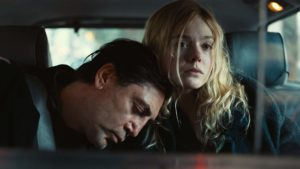 Javier Bardem as Leo and Elle Fanning as Molly in The Roads Not Taken, directed by Sally Potter. Copyright: British Broadcasting Corporation/British Film Institute/Adventure Pictures. All Rights Reserved.
