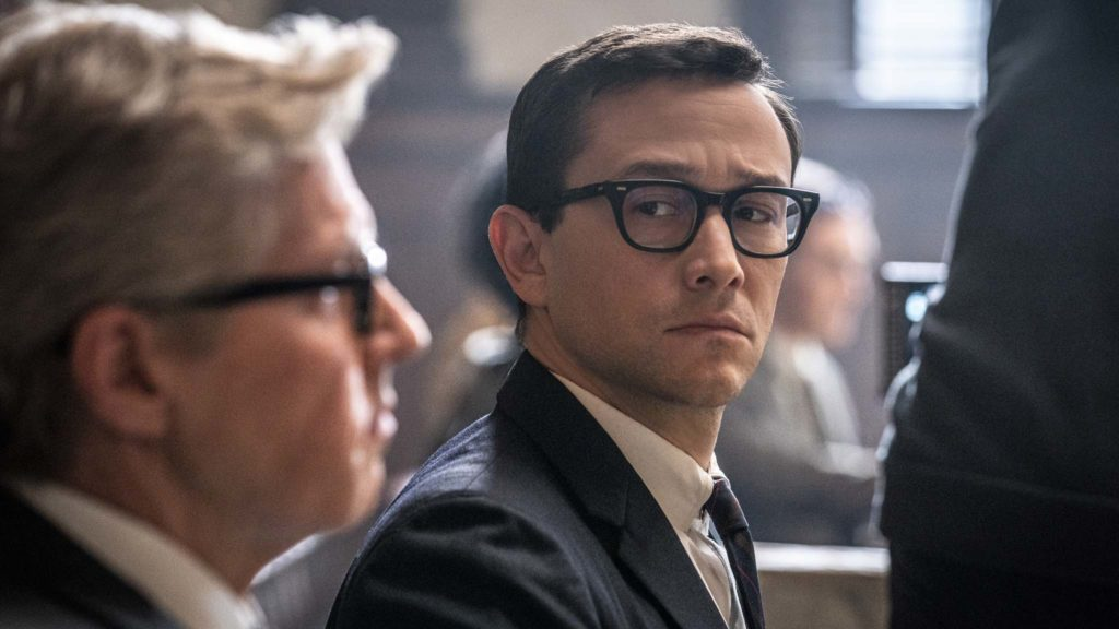 JC Mackenzie as Thomas Foran and Joseph Gordon-Levitt as Richard Schultz in The Trial Of The Chicago 7, directed by Aaron Sorkin. Photo: Nico Tavernise. Copyright: 2020 Netflix, Inc. All Rights Reserved.