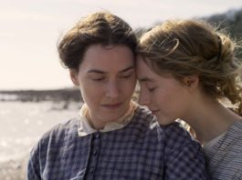 Kate Winslet and Saoirse Ronan star in Ammonite, directed by Francis Lee. Copyright: Lionsgate Films. All Rights Reserved.