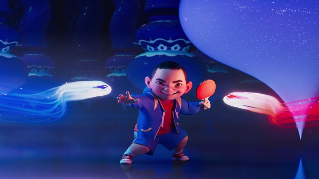 Chin (voiced by Robert G Chiu) in Over The Moon, directed by Glen Keane and John Kahrs. Copyright: Netflix, Inc. All Rights Reserved.
