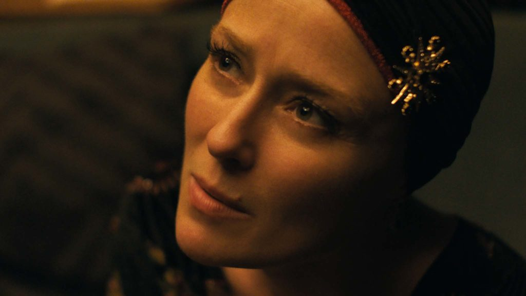 Jennifer Ehle as Amanda Kohl in Saint Maud, directed by Rose Glass. Copyright: A24 Films/StudioCanal. All Rights Reserved.