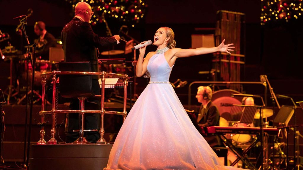 Katherine Jenkins in Katherine Jenkins Christmas Spectacular From The Royal Albert Hall, directed by Marcus Viner and Lynne Page. Copyright: Altitude Film Distribution. All Rights Reserved.