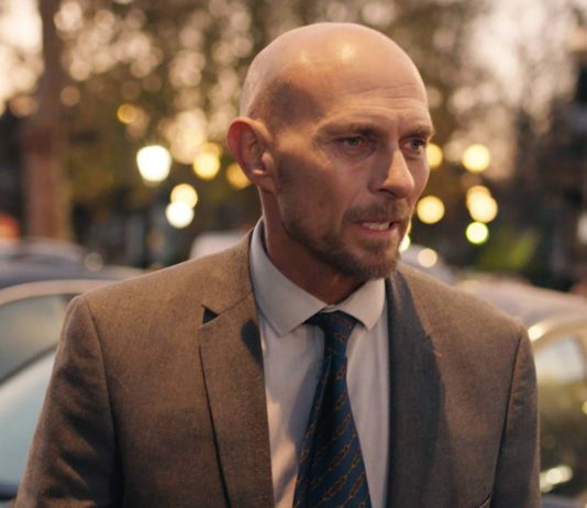 Luke Goss stars in The Loss Adjuster, directed by Vincent Woods. Copyright: Pink Flamingo Films. All Rights Reserved.