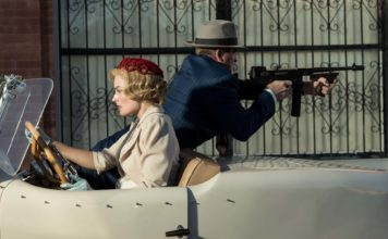 Margot Robbie as Allison Wells and Garrett Hedlund as Perry Montroy in Dreamland, directed by Miles Joris-Peyrafitte. Photo: Ursula Coyote. Copyright: 2018 Dreamland NM, LLC. All Rights Reserved.