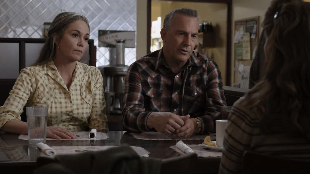 Diane Lane as Margaret Blackledge and Kevin Costner as George Blackledge in Let Him Go, directed by Thomas Bezucha. Photo: Kimberly French. Copyright: 2020 Focus Features. All Rights Reserved.