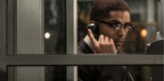 Kingsley Ben-Adir as Malcolm X in One Night In Miami..., directed by Regina King. Photo: Patti Perret. Copyright: Amazon Studios. All Rights Reserved.