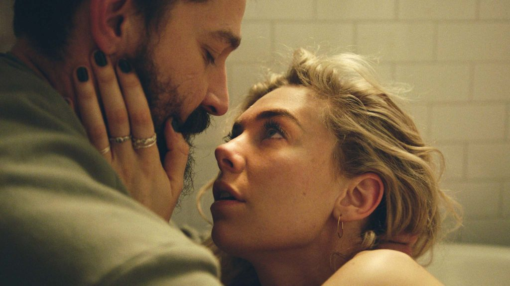 Shia LaBeouf as Sean and Vanessa Kirby as Martha in Pieces Of A Woman, directed by Kornel Mundruczo. Photo: Benjamin Loeb. Copyright: 2020 Netflix Inc. All Rights Reserved.